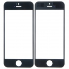 Replacement Electroplating Front Faceplate Panel Glass Screen for iPhone 5 - Black