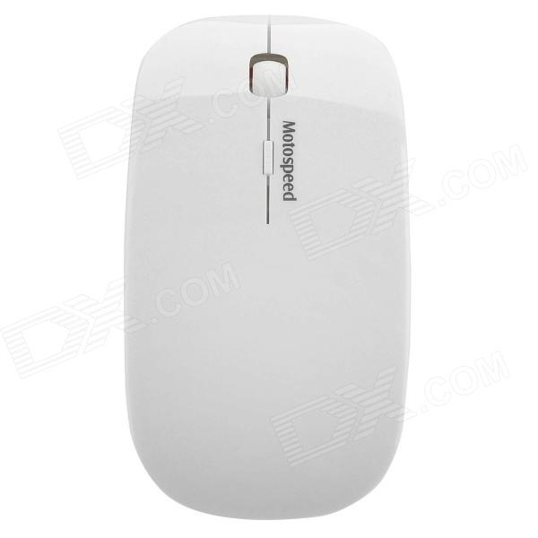Motospeed G101 Moda Wireless USB2.0 1000 ~ 1600dpi Ratón óptico - Blanco (2 x AAA)