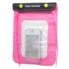 Free Soldier Waterproof Bag with Strap for Iphone 4 / 4S - Pink