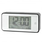 Handy Novel Touch Control Sleep Digital Clock w/ Date + Temperature - Silver + Black (3 x AAA)