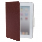 Stylish Protective PU Leather Case Stand for iPad 2 / 3 / 4 - Brown + White