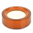 Office Plastic Round Case Finger Wet Sponge for Cashiers - Brown