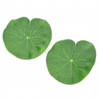 A033 Simulation Lotus Leaf PVC Decorative Flotage for Fish Tank / Aquarium - Green (2 PCS)