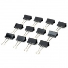 M&G ABS91605 41mm Long Handle Large Binder Clips Set - Black (12 PCS)