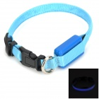 Adjustable 3-Mode LED Pet Outdoor Night Safety Collar - Blue (2 x CR2032)