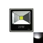 Waterproof Outdoor Flat 20W 1600lm 6500K LED White Light Project Lamp - Black + Grey (110~265V)