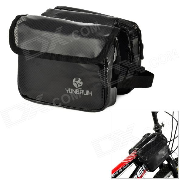 YONGRUIH YG01 Outdoor Bicycle Top Tube Double Bag - Black