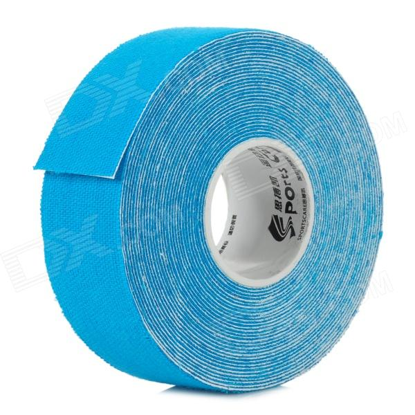 Sports Care Cotton Cloth Therapy Muscle Kinesiology Tape - Blue (5m)