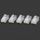 RJ45 8pin ABS Modular Steckverbinder - Transparent (5 PCS)