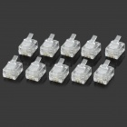 RJ11 4pin ABS Modular Plug Connector - Transparent (10 PCS)