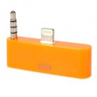 8pin Lightning to 30pin Audio Adapter w/ 3.5mm Plug for iPhone 5 / iPod Touch 5 - Orange