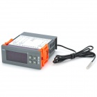 "XH-W1208 1.8"" Screen Digital Thermostat Temperature Controller - Gray + Orange + Black"