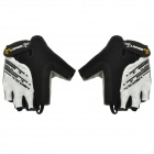 Spakct S13G01 Outdoor Sports Half-Finger Cycling Gloves - Black + White (Size L)