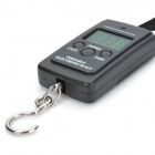"Mini 40KG 1.4"" LCD Screen Handheld Electronic Scale - White + Black + Silver (2 x AAA)"