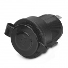 YouLiang DIY Water Resistant Motorcycle Modification Car Cigarette Lighter Socket - Black