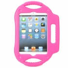 Protective ABS Back Case w/ Stand + Handle for Ipad MINI - Deep Pink