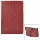 Classic Ultra Thin Protective PU Leather Smart Case w/ Folding Holder for Ipad MINI - Brown