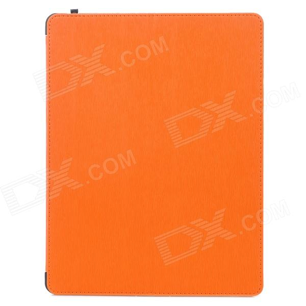 Multi-Function PU Leather Case/ Vent Holes / Sound Amplifier for Ipad 3 / 4 - Orange multi function pu leather case vent holes sound amplifier for ipad 3 4 orange