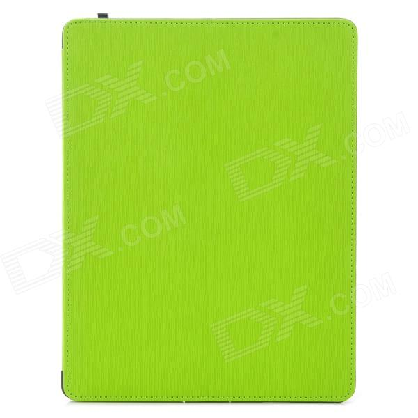 Multi-Function PU Leather Case/ Vent Holes / Sound Amplifier for Ipad 3 / 4 - Green multi function pu leather case vent holes sound amplifier for ipad 3 4 orange