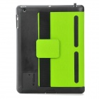 Multi-Function PU Leather Case/ Vent Holes / Sound Amplifier for Ipad 3 / 4 - Green