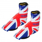 Monton UK National Flag Style Anti-Slip Cycling Shoe Cover - Blue + White + Red (Size XL)