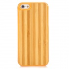 Newtop Wood Grain Style Protective Wood + Plastic Back Case for Iphone 5 - Yellow