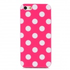Fashionable Polka Dot Pattern Protective Silicone Back Case for Iphone 5 - Deep Pink