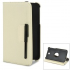Fashionable PU Leather Case w/ 360' Rotating Holder + Capacitive Stylus for Samsung Galaxy Tab 3
