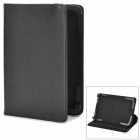 "Universal Stylish Litchi Pattern Flip-open 360' Rotating PU Leather Case for 7"" Tablet PC - Black"