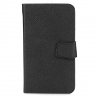 Newtop Universal Protective PU Leather Cellphone Case w/ Built-in Back Adhesive Pad - Black