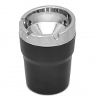 SD-1207 Convenient Fire-proof ABS Ashtray for Car - Black + Silver