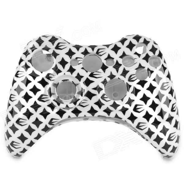 Full Housing Case for Xbox 360 Wireless Controller - Black + White one piece 1x brand new high quality silicon protective skin case cover for xbox 360 remote controller blue green mix color