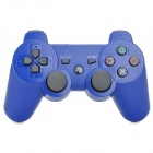 Wireless Bluetooth V4.0  Double Shock Controller for PS3/PS3 Slim - Blue