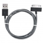 USB to 30-Pin Data / Charging Nylon Cable for iPhone 4S - Black