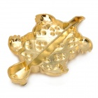 Zinc Alloy Turtle Style w/ Rhinestones Car Decoration + Dual-side Adhesive Tape - Golden