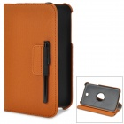 Stylish PU Leather Case w/ 360' Rotating Holder + Capacitive Stylus for Samsung Galaxy Tab 3