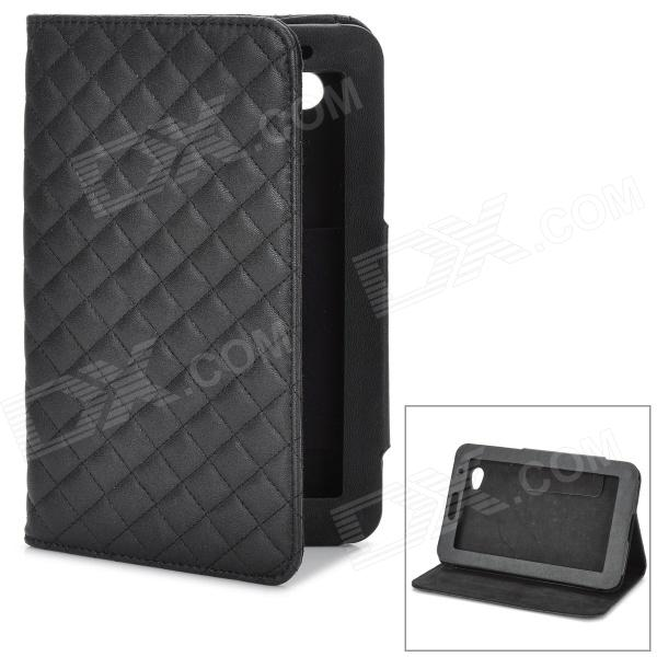 Stylish Diamond-shaped Texture Protective PU Leather Case w/ Holder for Samsung P3100 - Black protective pu leather cover case w holder for ele p3000 p3000s black