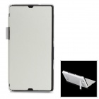 Compact 2800mAh Rechargeable Li-ion Power Back Case w/ PU Leather Cover for Sony L36h - White