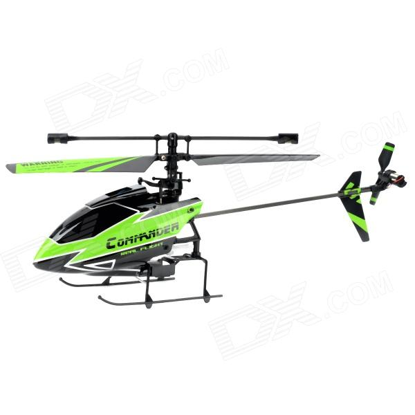 WLtoys V911-1 Outdoor Wind Resistant 4-CH 2.4G Radio Control R/C Helicopter w/ Gyro - Green + Black wltoys wl r4 2 9 lcd 6 axis multi function remote controller for r c toy black 4 x aa