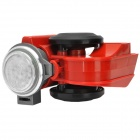 Replacement 12V One Piece Air-pump Horn / Loudspeaker for Bicycle - Black + Red + Silver