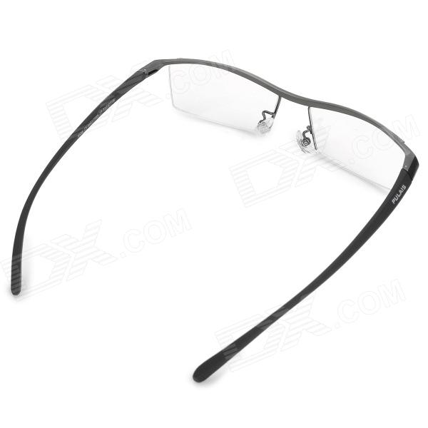 Nice Half Frame Glasses : PULAISI 1280T Half-Frame Titanium Glasses Frame for Men ...