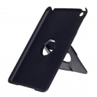 Stylish Protective PU Leather Back Case w/ Swivel Stand for Ipad MINI - Black