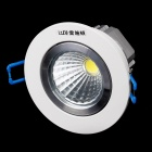 LRISODUN LSD-COB-G2016 3W 285lm 6400K LED White Light Ceiling Lamp - Ivory + Silver (AC 85~265V)