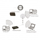 GDI-82 2.4G WiFi 15dBi RP-SMA Antenna for Router Network w/ Magnet Base - Black