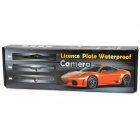 Universal Long License Plate Mounted Water Proof CMOS Parking Rear View Camera - Black