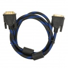 VGA 3+5 Male to Male High Definition Cable - - Black + Blue (150cm)