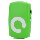 KD-MP3-21-LANSE Mini Portable TF Card MP3 Music Player w/ Clip - Green + White (16GB Max.)