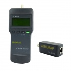 "SC8108B 2.5"" LCD Network Cable Tester w/ RJ-45 + BNC Interface - Grey (4 x AAA)"