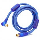 368 RF Cable for Digital HDTV - Blue + Golden (184cm)