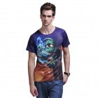 XING LONG 004 3D Animation Game Short-Sleeves T Shirt for Men -Multicolored (Size-XL)